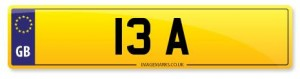 13 personalised number plates