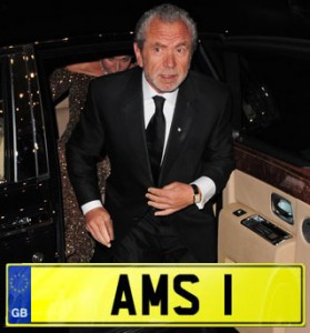 Alan Sugar Number Plate AMS 1