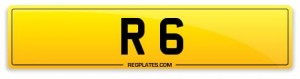 Number Plate R 6