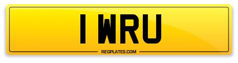 Welsh Rugby Number Plates 1 WRU