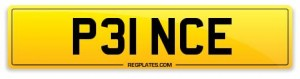 number plate P31 NCE