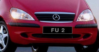 number plate FU 2