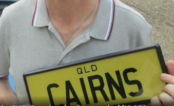 CAIRNS number plate