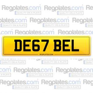 DE67-BEL-NUMBER-PLATE