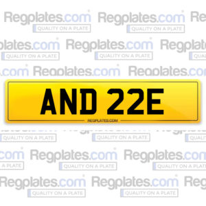 AND 22 E reg plate