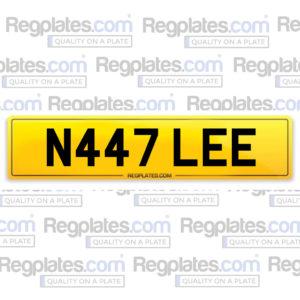 N477 LEE reg plate
