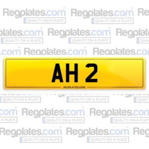 Number plate AH 2