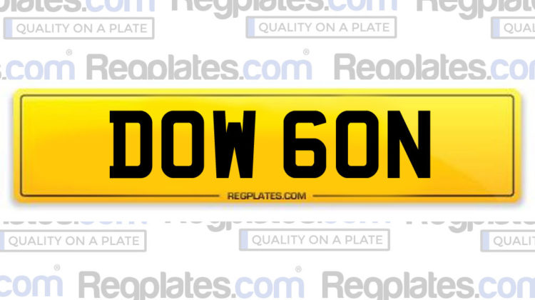 DOW 60N personalised regplate