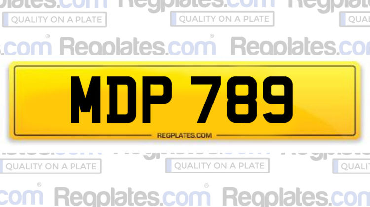 MDP 789 Number plate
