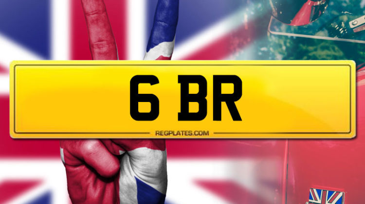 Team GBR 6 BR personalised number plate