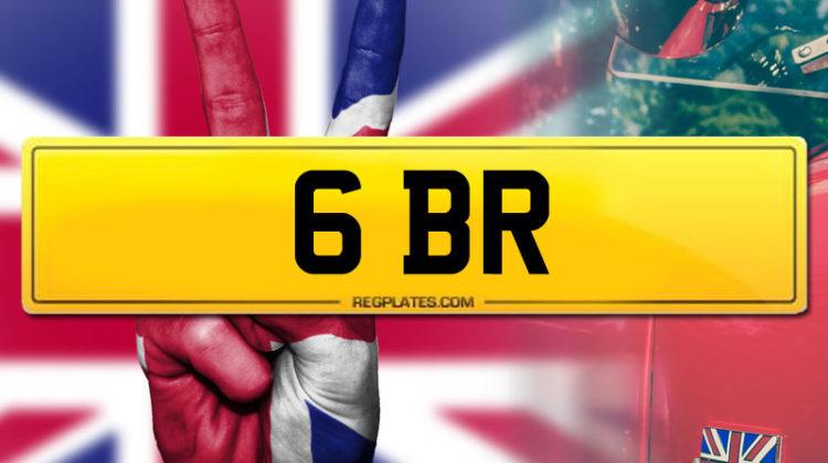 Team GBR 6 BR personalised number plate
