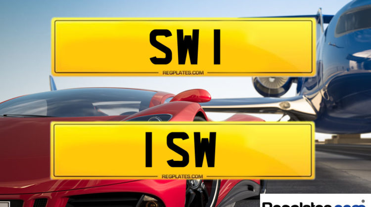 SW 1 & 1 SW number plates