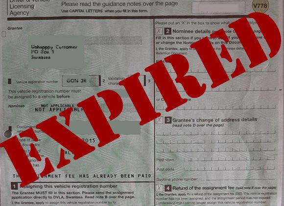 DVLA V778 Expired Certificate