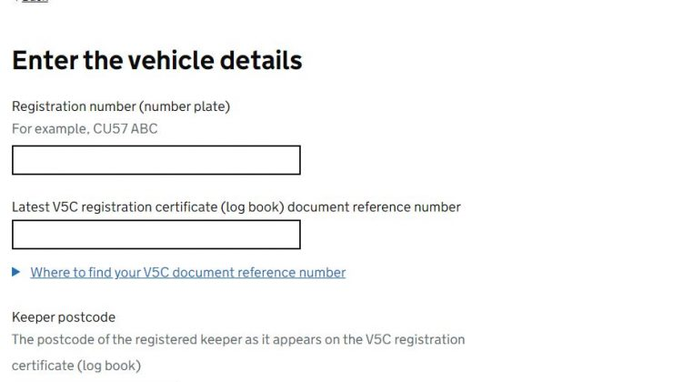 DVLA V5C Address Change