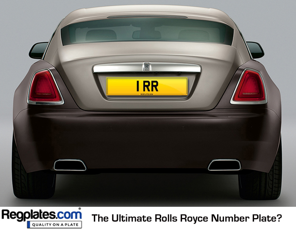 1 RR Rolls Royce Number Plate