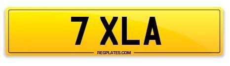 Reg Plate 7 XLA