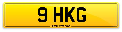 Number Plate 9 HKG For Sale AT Regplates.com