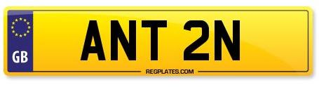 Anton / Anthony Number Plate