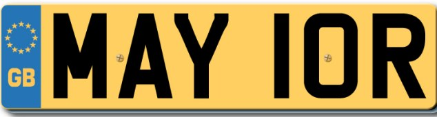 Lors Mayor Number Plate Boris Johnson
