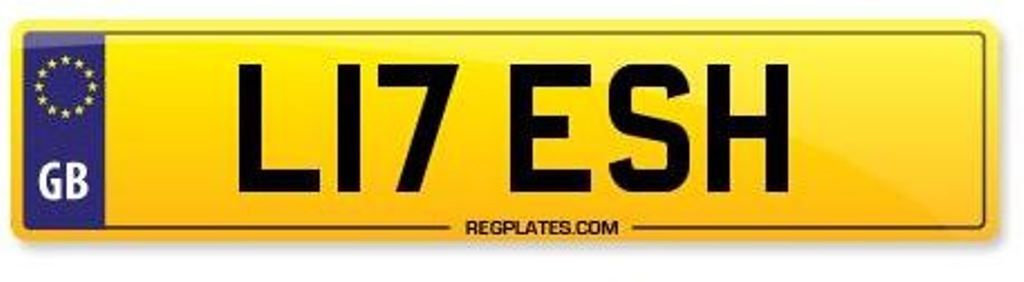 Litesh L17 ESH Name Number Plate