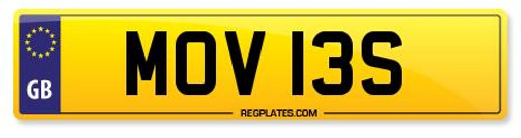 MOV 13S Number Plate