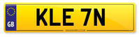 Personalised Number Plate KLE 7N