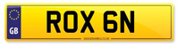 Personalised Number Plate ROX 6N