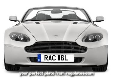 RAC 116L NUMBER PLATE FROM REG PLATES