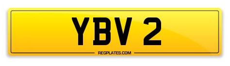 YBV 2 Number Plate