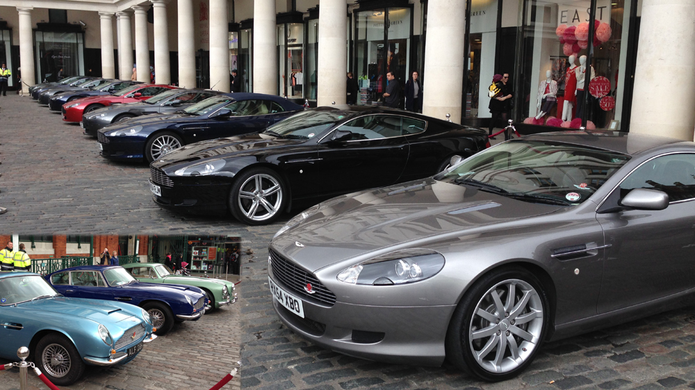 Aston Martins At Londons Covent Garden