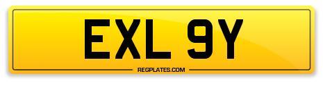 EXLEY EXL 9Y Number Plate