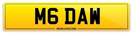 M6 DAW Number Plate