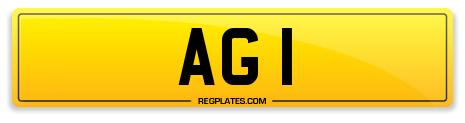 Auction Number Plate AG 1