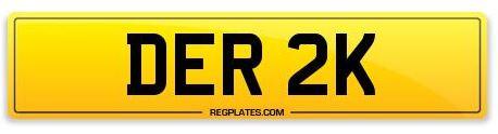 Number Plate DER 2K