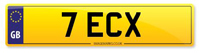 Personalised Number Plate 7 ECX