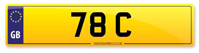 Number Plate 78 C Available From Stock