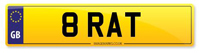 8 RAT 'BRAT' Personalised Number Plate From Stock