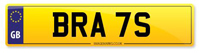 Personalised Number Plate BRA 7S