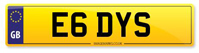 Personalised Number Plates E6 DYS