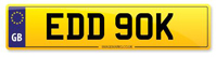Personalised Number Plates EDD 90K