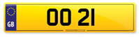 Number Plate OO 21 Available from stock