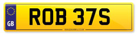 Personalised Number Plate ROB 37S
