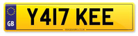 Personalised Number Plates Y417 KEE
