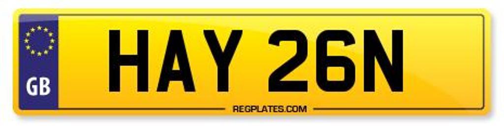 Reg Plate HAY 26N - Hayden