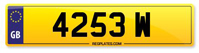 Personalised Number Plate 4253 W