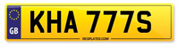 Personalised Number Plates KHA 777S