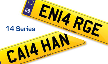 14 Series Release Number Plates