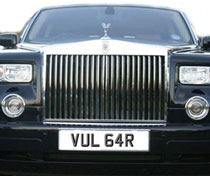 Famous Celebrity Number Plates