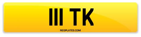 Registration 111 TK