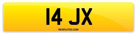 Registration 14 JX